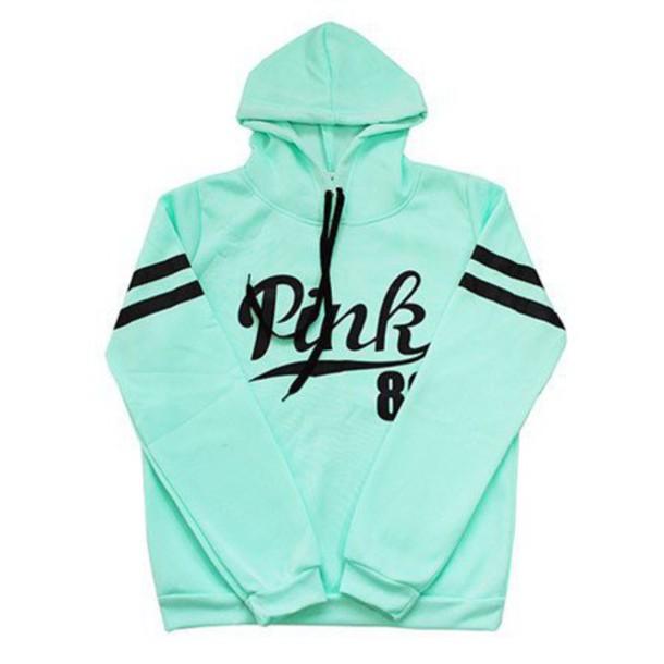 sweater pink 86 mint hoodie hoodie mint pastel mint sweatshirt cool tumblr cute kawaii