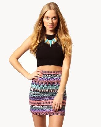 skirt tribal skirt mini skirt