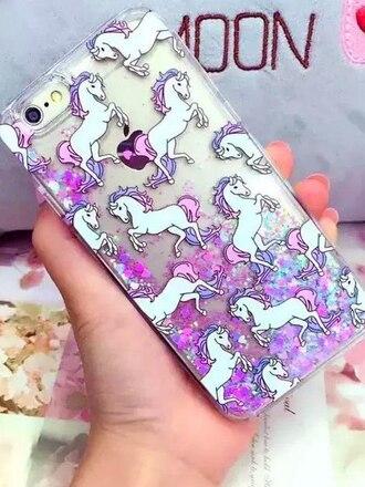 phone cover unicorn glitter
