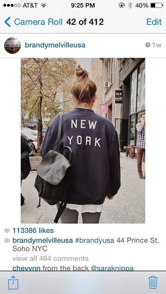 jacket navy new york city collar