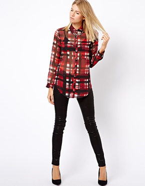 Mango | Mango Check Shirt at ASOS