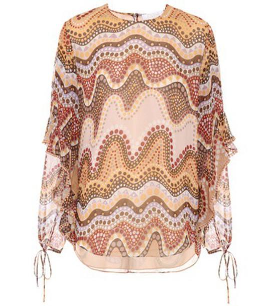 Chloe blouse silk top