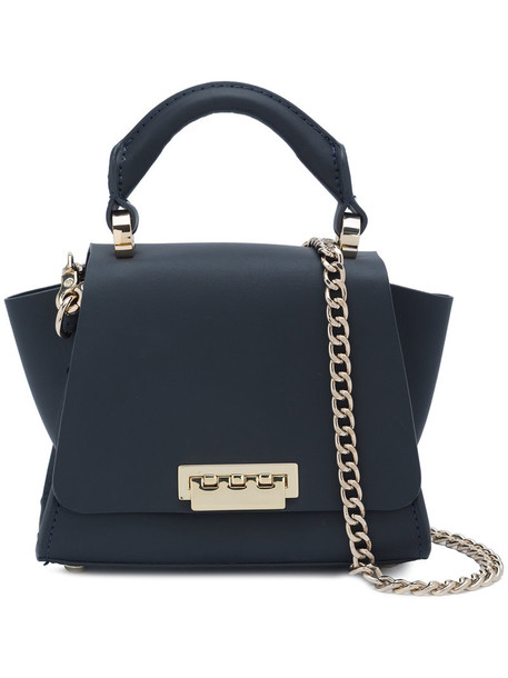 ZAC Zac Posen mini women leather blue bag