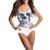 White Skull Digital Print Romper Yoga Monokini Swimsuit Swimwear MDS023 | eBay