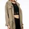 Hooded drapey parka jacket