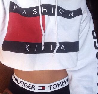 sweater tommy hilfiger tommy hilfiger cropped hoodie cropped hoodie jacket white sweatshirt cropped hoodie tommy hilfiger crop top baddies