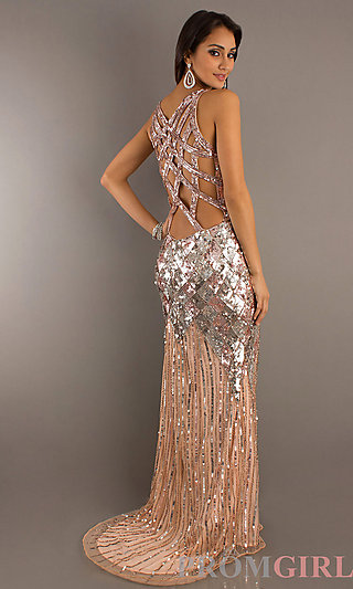 Sequin Prom Dresses, Primavera Sequin Formal Gowns- PromGirl