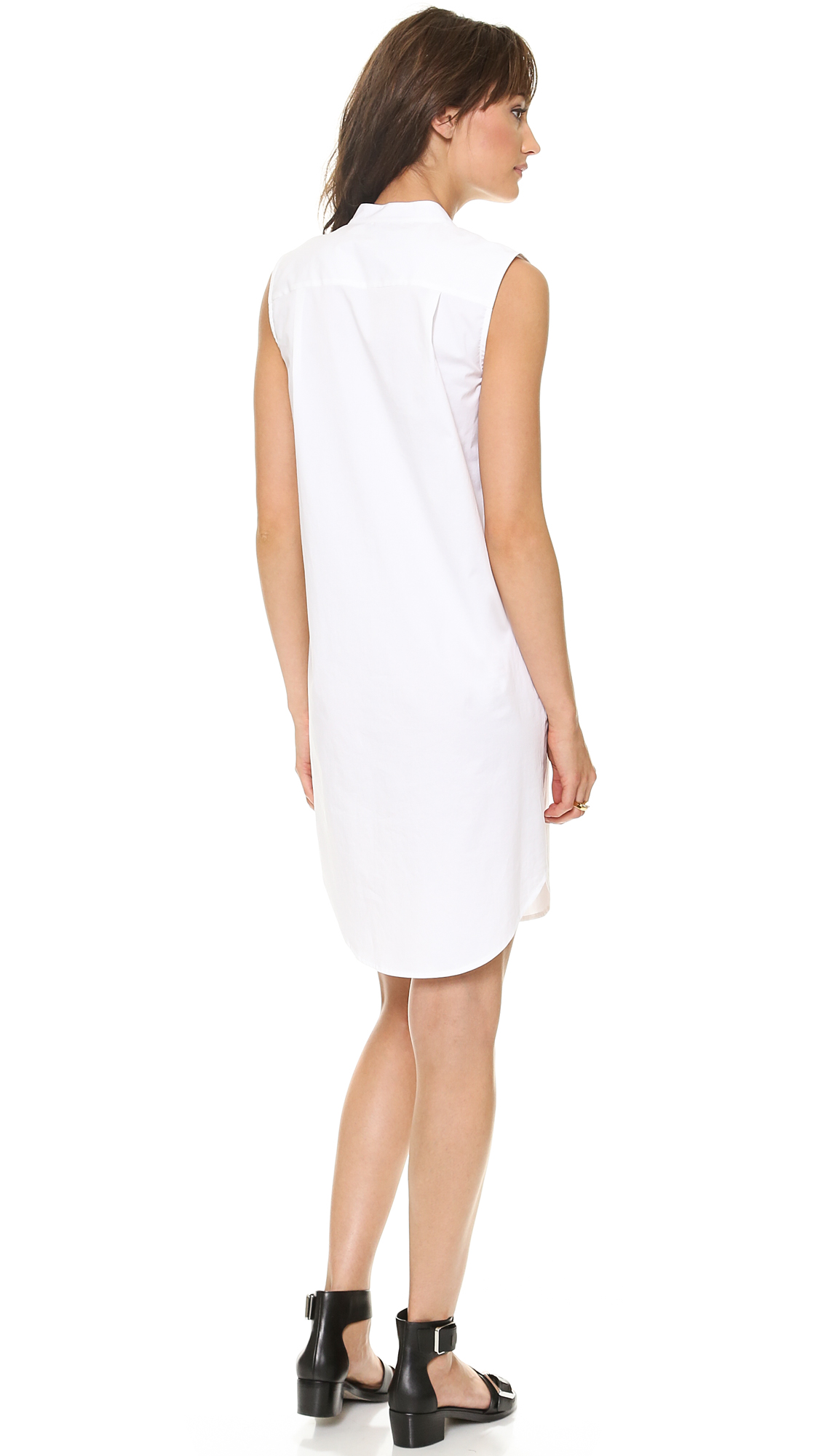 DKNY Sleeveless Half Placket Dress | SHOPBOP