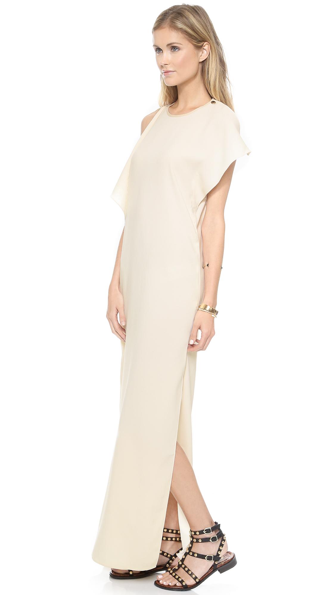 Blaque label ruffle maxi dress