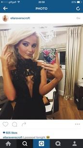 dress,black,keyhole,cut-out,plunge neckline,christmas,new year's eve,party dress,black lace dress,plunge dress,deep v dress,plunging v neck evening dresses,short dress