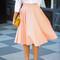 Fashion high waist pure color skirts