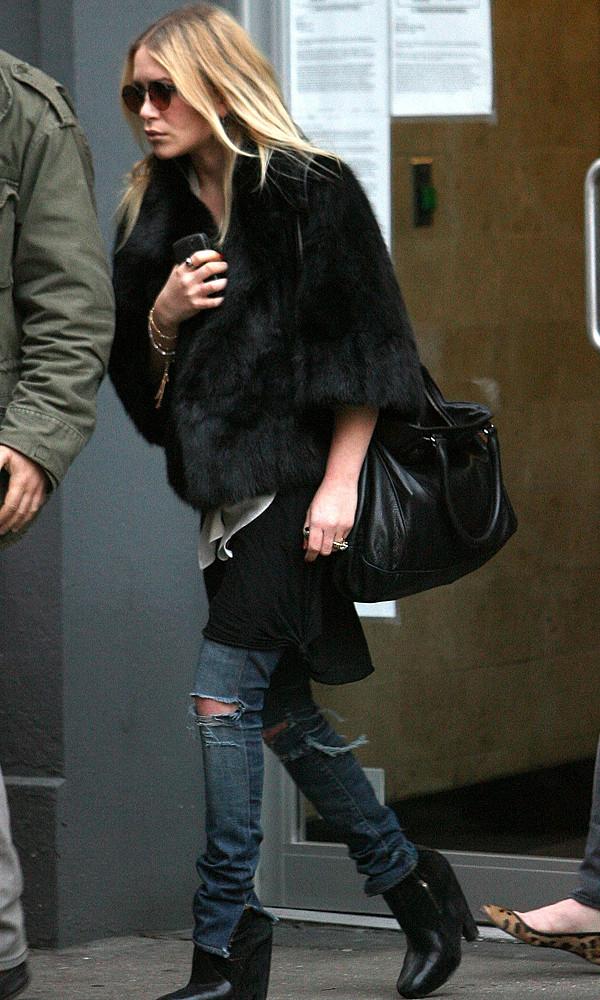 olsen sisters blogger jacket top bag jeans