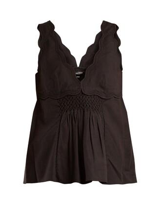top sleeveless top sleeveless cotton black