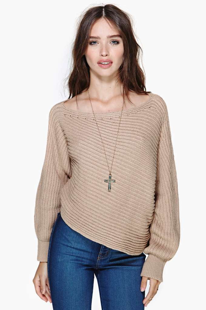 Adrienne Crop Sweater in  What's New at Nasty Gal