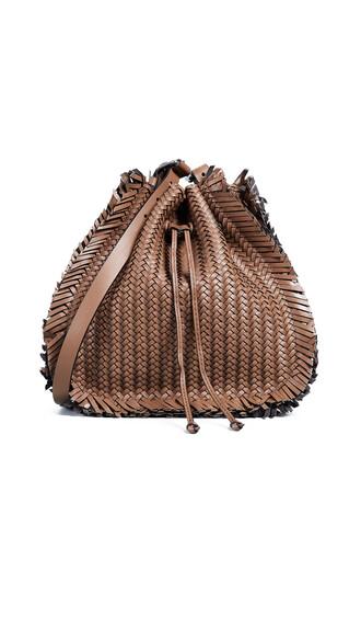 drawstring bag shoulder bag