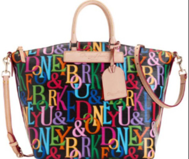 bag dooney & bourke vanessa satchel colorful