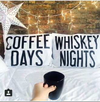 home accessory bedding bedroom coffee quote on it funny dorm room