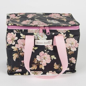 bag lunch food style rose flowers