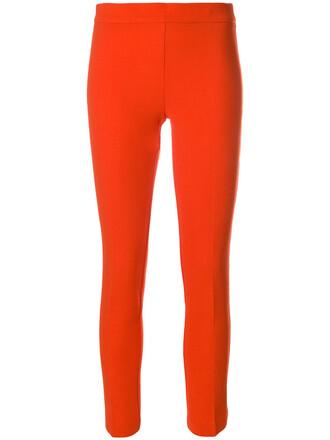 cropped women spandex fit wool yellow orange pants