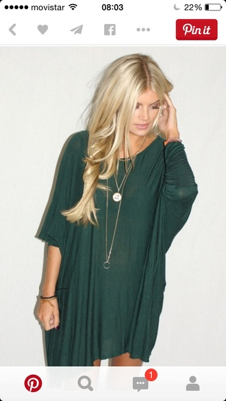 blouse hippie look forest green oversized oversized t-shirt