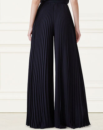 pants black long pleated pants ralph lauren