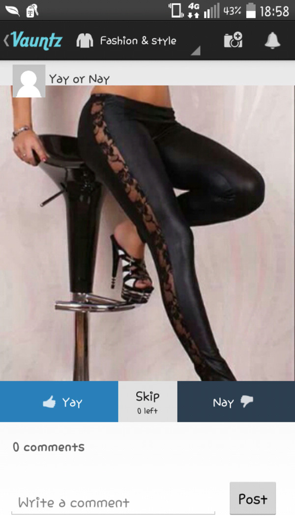 leggings lace up leggings