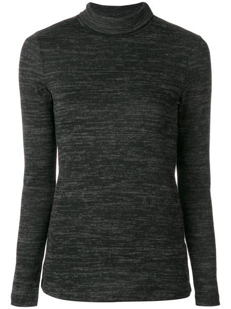 Roberto Collina - roll neck jumper - women - Polyester/Spandex/Elastane/Viscose - L, Grey, Polyester/Spandex/Elastane/Viscose