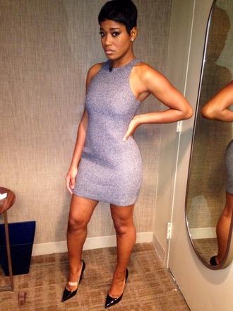 clothes keke palmer birthday dress celebrity style dress grey dress bodycon dress