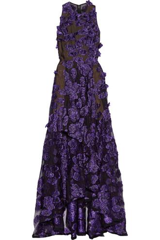 gown floral purple dress