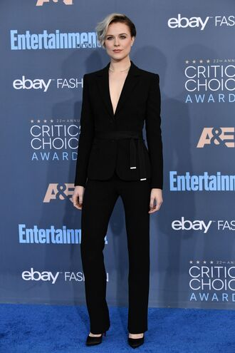 jacket blazer suit pumps evan rachel wood