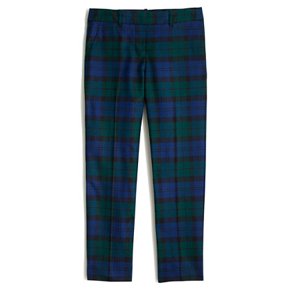 skimmer pant in Black Watch plaid
