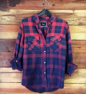blouse,plaid shirt,shirt,flannel shirt,plaid,ombre,blue,checkered,dip dyed,long sleeve shirt,winter outfits,flannel,flannie,top,warm,red,ombre shirt