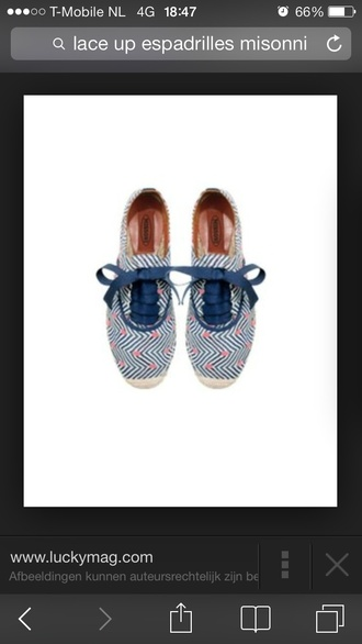 shoes espadrilles missoni laced-up
