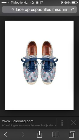 missoni shoes espadrilles laced-up