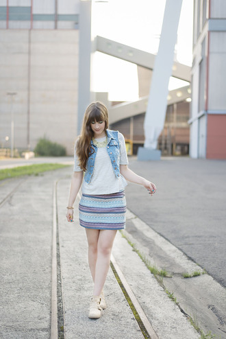 andy sparkles blogger skirt shoes jewels jacket