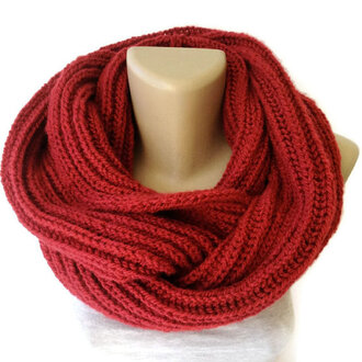 scarf knitwear knitted scarf winter outfits women scarfs red red scarf