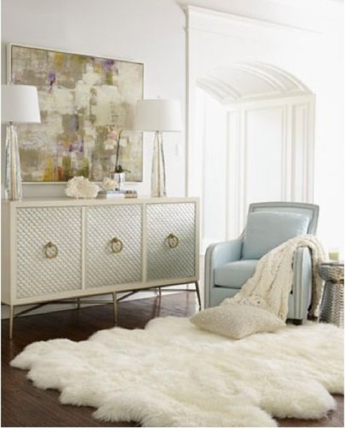 Bag fluffy fluffy rug white light blue bedroom for Small rug for bedroom