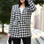 Double Breasted Houndstooth Coat [NCSOS0122] - $105.99 :