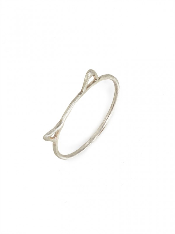 Silver Cat Ear Ring