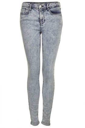 MOTO Bleach Acid Leigh Jeans - Leigh Skinny Jeans - Jeans  - Clothing - Topshop