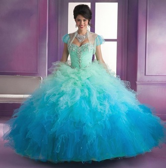 dress quinceanera dress turquoise dress