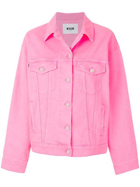 MSGM jacket women cotton purple pink