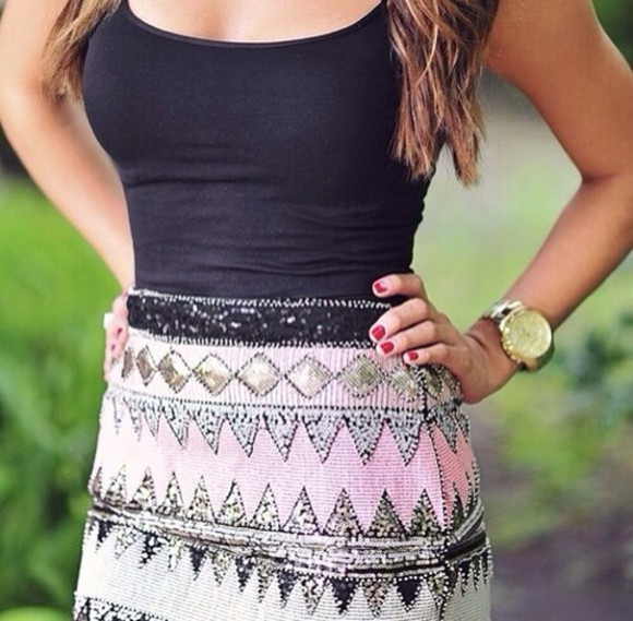 skirt outfit aztec girly clothes party