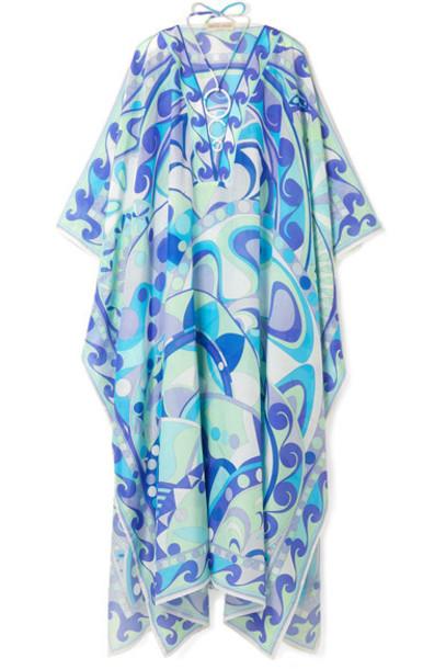 Emilio Pucci embellished cotton silk top