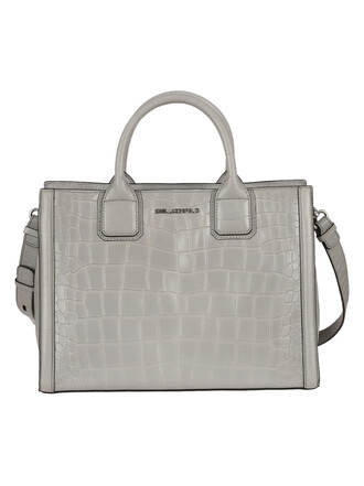light print grey bag