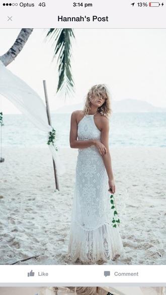dress beach wedding white dress