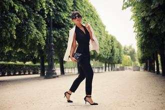 frassy blogger jacket jumpsuit shoes bag