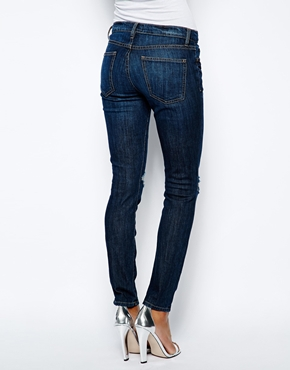 Current/Elliott | Current Elliott Ankle Skinny Jeans With Knee Rips at ASOS