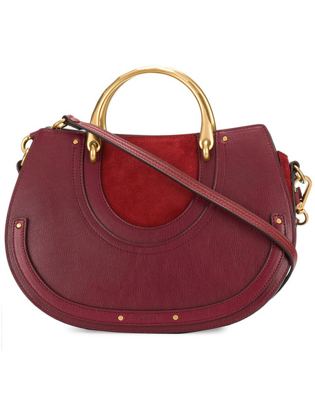 Chloe women bag leather red