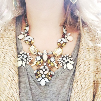 jewels forever 21 statement necklace necklace rhinestones floral